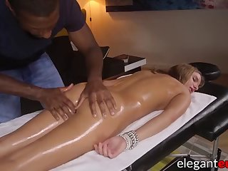 cute euro lady ass stretched with massive black dick