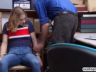 shoplifter kasey miller makes lp officers cock better