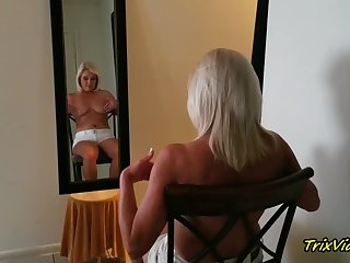 the erotic blonde in the mirror with ms paris rose