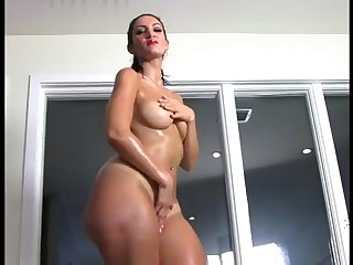 showing shaved pussy and thick ass
