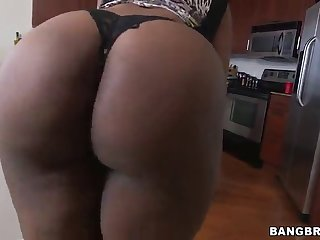 pretty perfidious with nice ass displaying her big ass in pov shoot